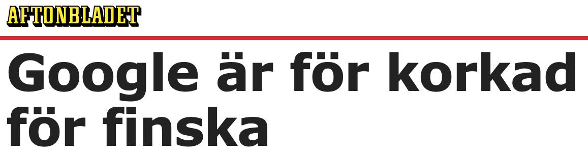 Finland. För att svenska medier och andra ska kunna följa vad som händer i Finland och rapportera om det, måste de ha hjälp av finskspråkiga personer.