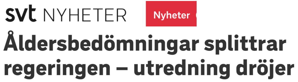 """""""Utredning dröjer"""". Varför klarar inte Sverige av att göra åldersbedömningar av asylsökande som säger sig vara minderåriga när alla andra länder gör det?"""