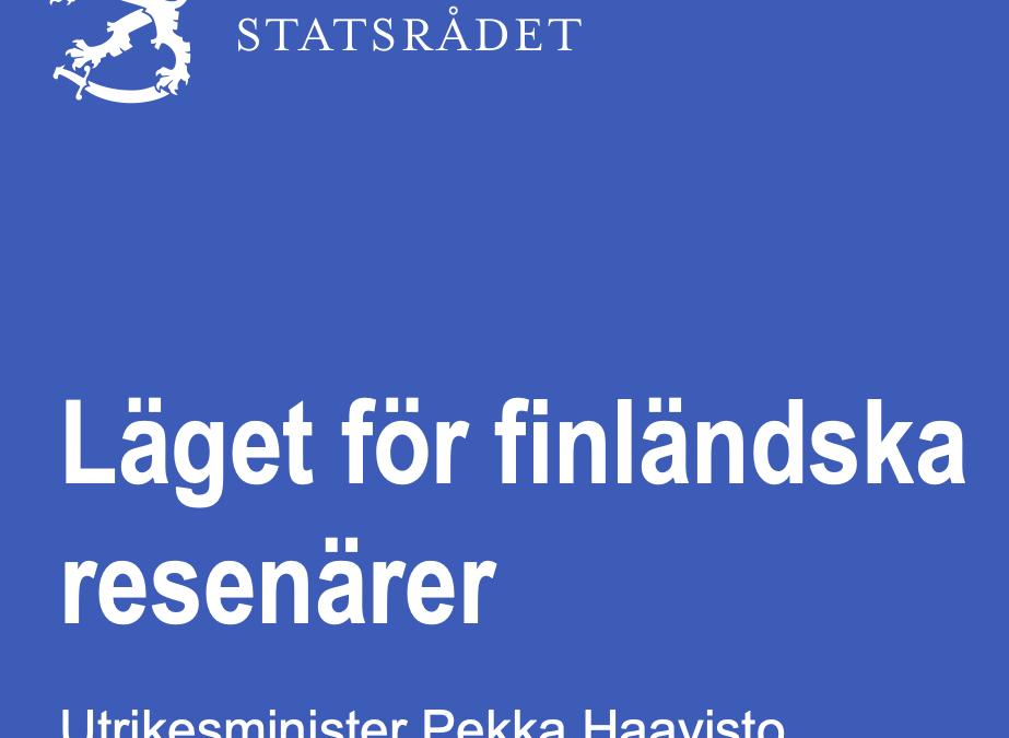 """Finland. Notera erbjudandet: """"Också medborgare i andra nordiska länder och EU-länder kan använda flygen för att resa hemåt."""""""