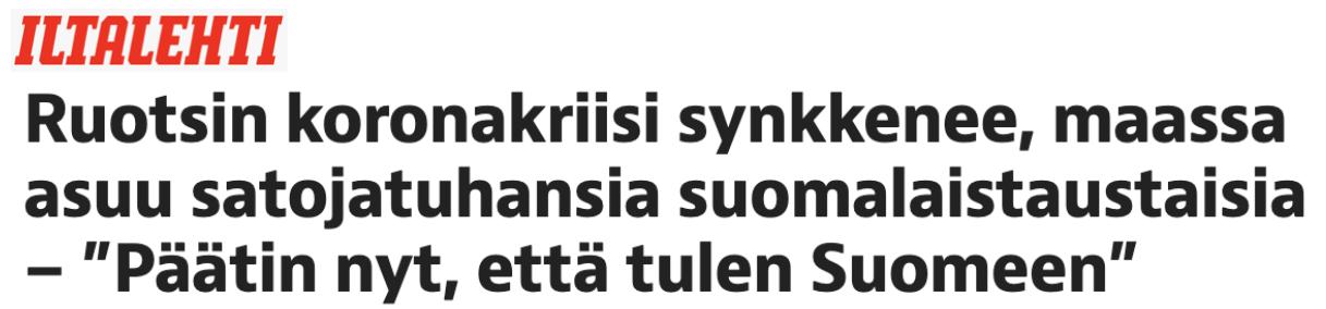 Finländare som bor i Sverige funderar nu på om de borde återvända till Finland på grund av corona-situationen.