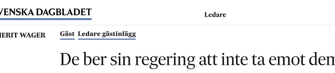 De vill att deras land – som de sagt sig ha skyddsskäl gentemot – ska obstruera så att Sverige inte kan utvisa dem