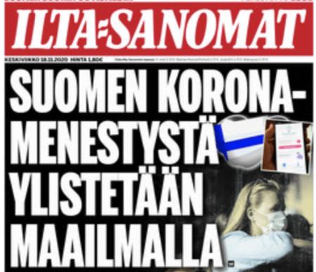 """""""Utomlands är man förvånade över hur Finland har lyckats hålla coronasmittan i schack. Finland har minst antal coronasmittade och döda i Europa."""""""