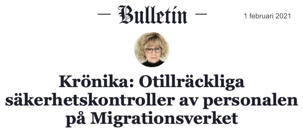 Har den svenska statliga myndigheten Migrationsverket alltså krigsplacerat icke svenska medborgare?!