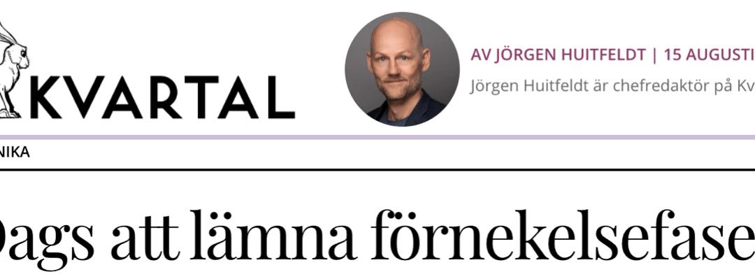 """Apropå en artikel i Kvartal. Två som aldrig befunnit sig i en """"förnekelsefas"""" är Finlands president och den nederländskesocialdemokraten, tillika EU-kommissionens förste vice ordförande."""