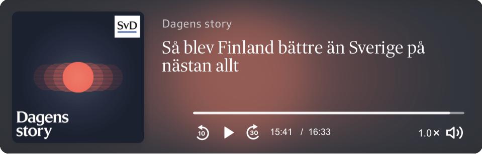 I decennier hade Sverige på olika samhällsområden kunnat lära en del av grannlandet Finland, men intresset har varit lika med nästan noll