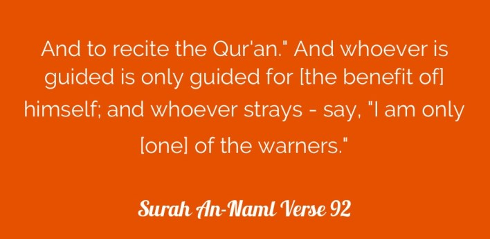 guided is only guided for [the benefit of] his soul