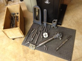 Random stuff, including old lathe parts and some stuff from another model of Diamond mill (M24)