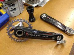 Bontrager cranks and ring setup