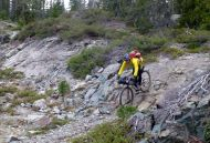 Sean riding some rocks