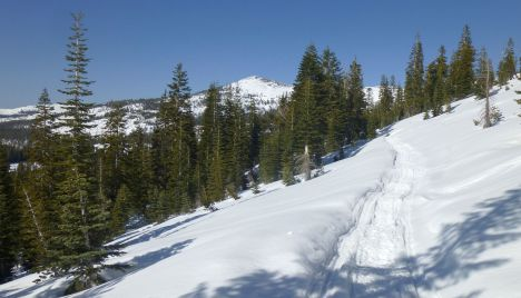Not sure this peak's name. Snowmobile trail on the backside of Andesite.