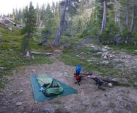 TiGoat bivy with the bug net.