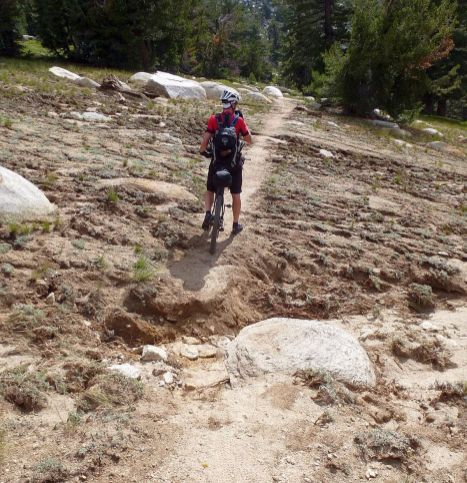 A huge storm dumped so much rain the trail was washed out in several places