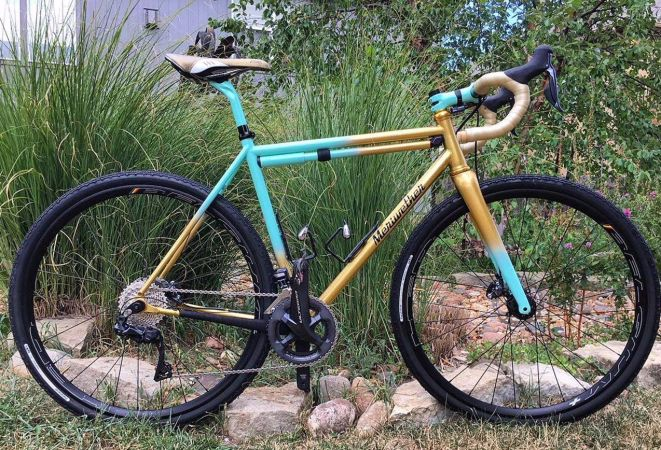 Alyssa's Cross bike with paint by Blackmagic