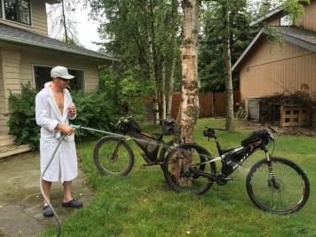 How they clean bikes in Anchorage