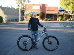 Dale and his new whip in front of Auburn Iron Works the local welding supply shop.
