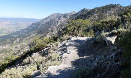 East side of the Tahoe Rim, cimbing to Monument Pass