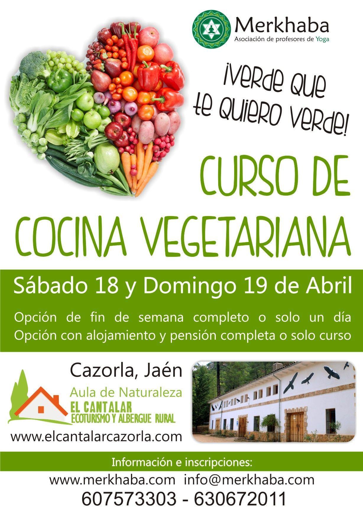 Curso de Cocina Vegetariana en Sierra de Cazorla Jan 1819 de Abril
