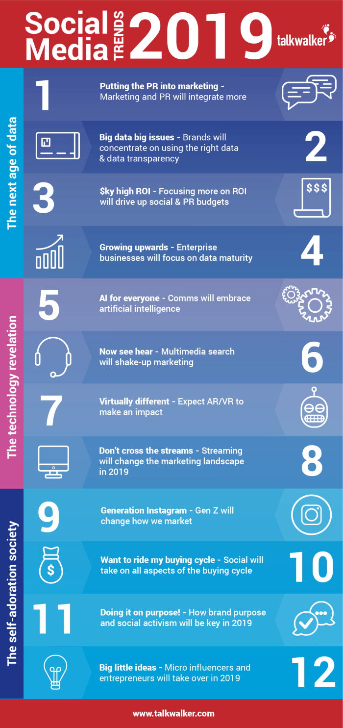 12 Expert Social Media Predictions For 2019 Infographic MP Connections
