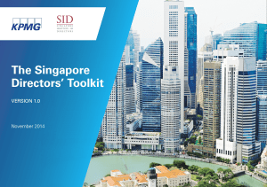 The Singapore Directors Toolkit