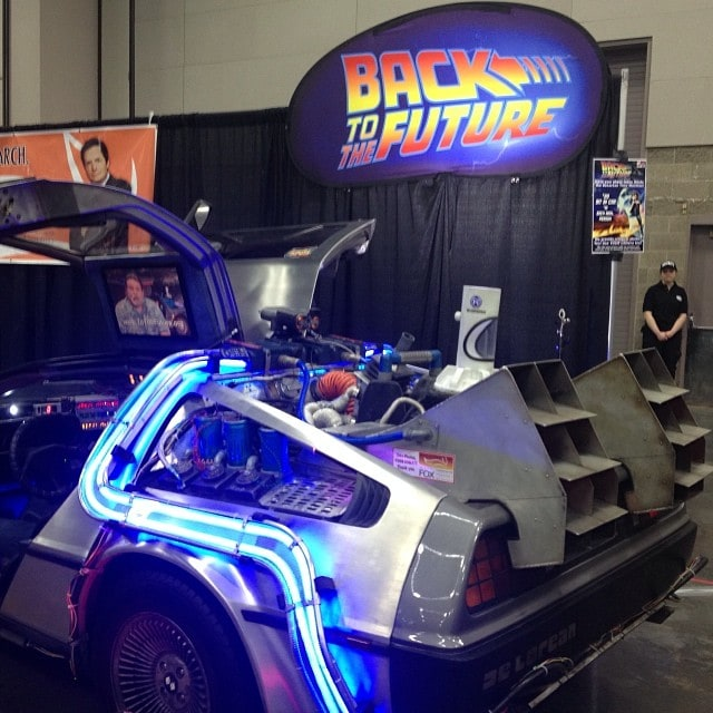 Delorian Wizard World Comic Con