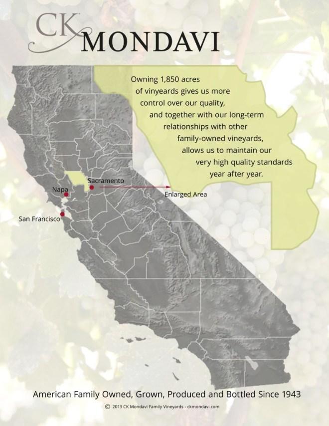 ck mondavi map
