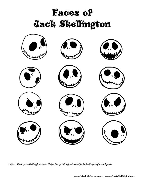jack skellington face template - diy jack skellington ornaments jackskellington merlot mommy