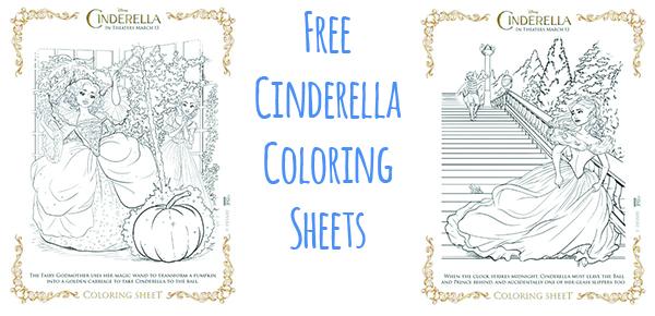 Cinderella coloring sheets