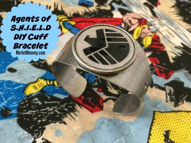 Agents of S.H.I.E.L.D DIY Cuff Bracelet #AvengersEvent #AgentsofSHIELD #ABCTVEvent