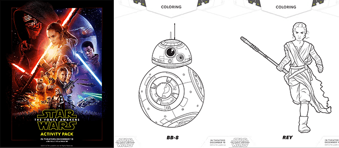 Star Wars Activity Sheets and Coloring Pages