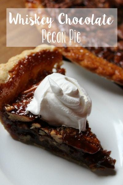 Whiskey Chocolate Pecan Pie
