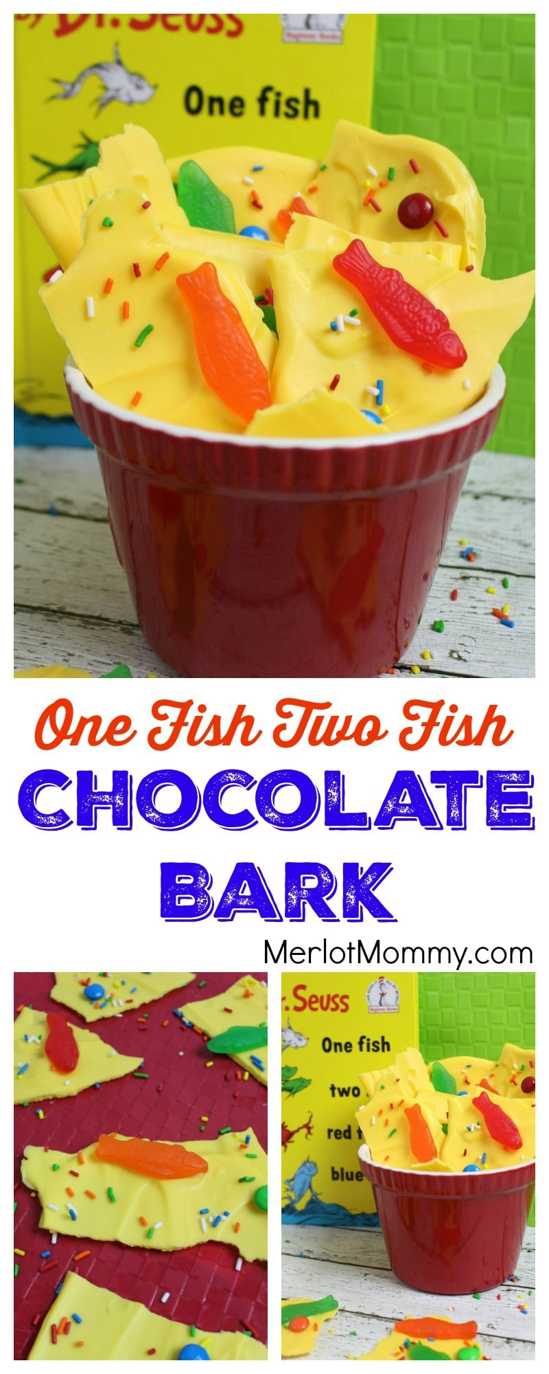 One Fish Two Fish Chocolate Bark Dr. Seuss-Inspired Recipe