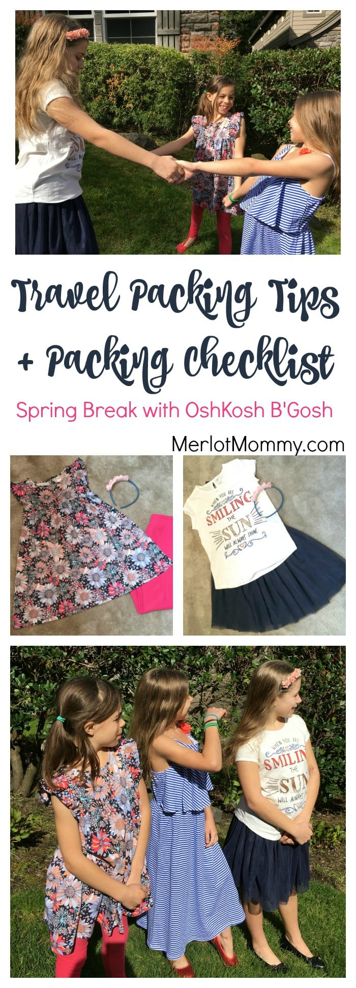 Travel Packing Tips and Packing Checklist + OshKosh Gift Card Giveaway