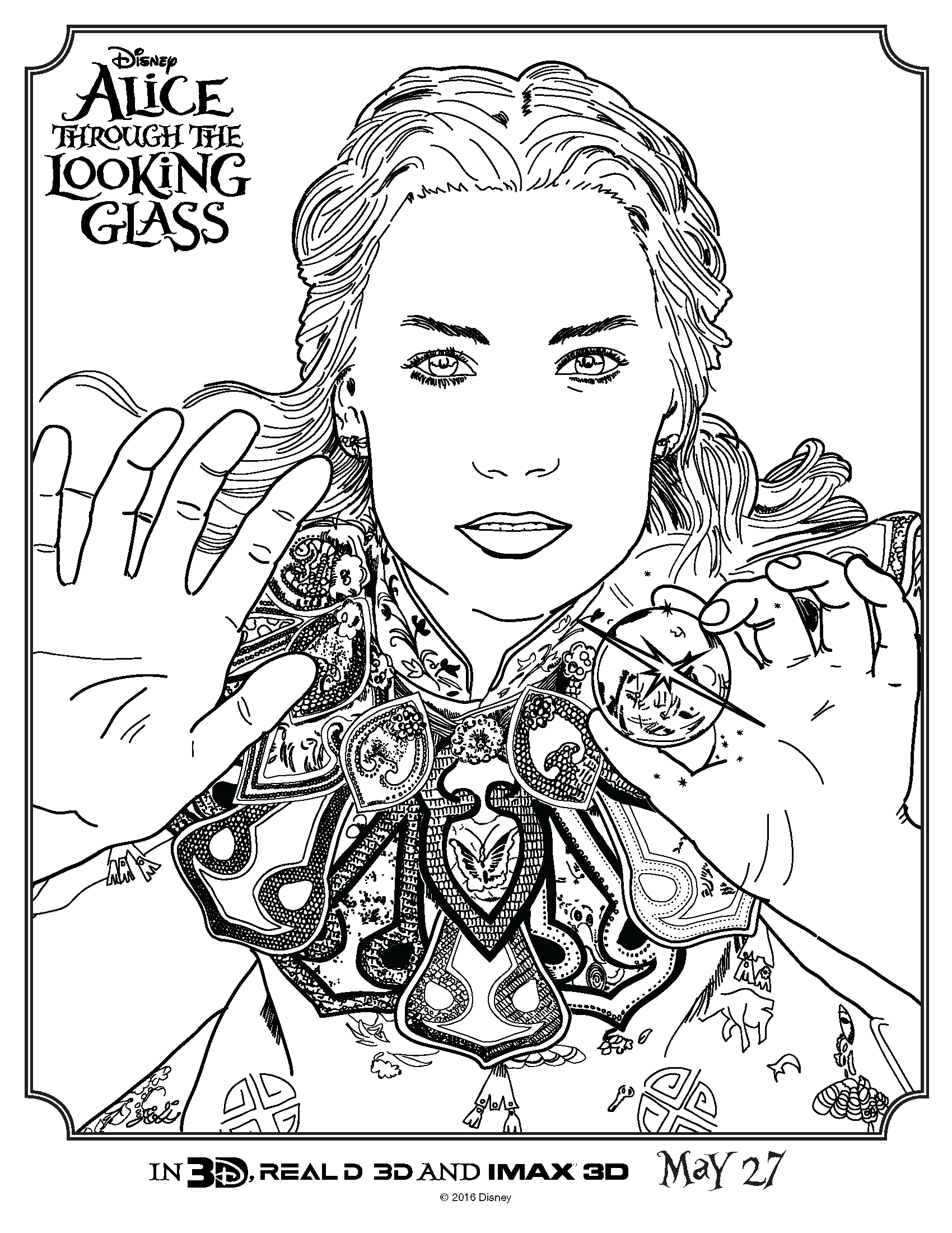 Alice Coloring Pages