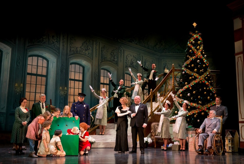 "The Company in ""A New Deal for Christmas."" Photo credit: ©JOAN MARCUS."
