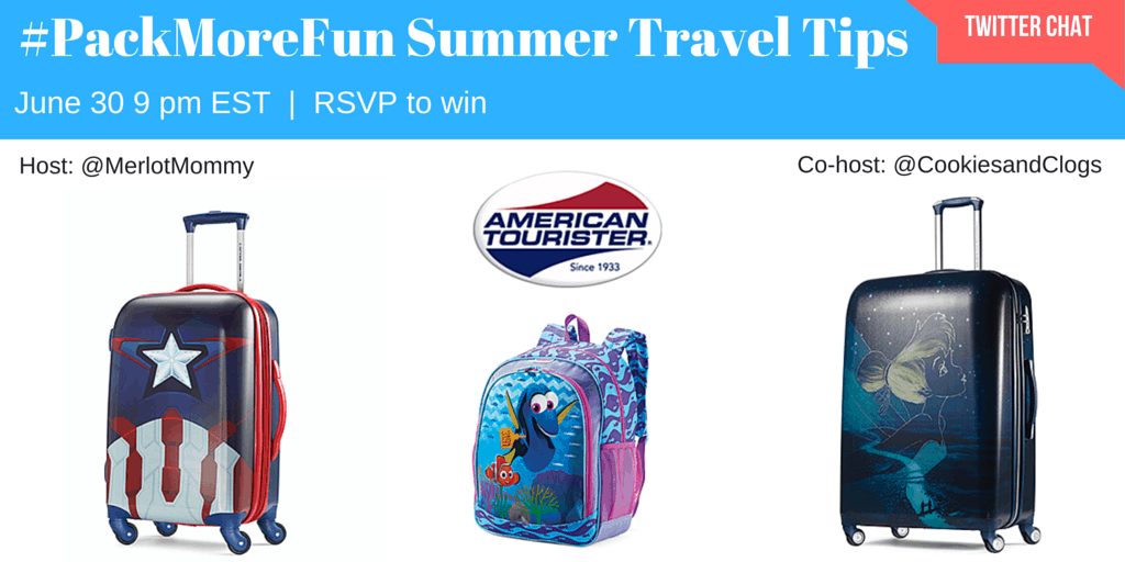 American Tourister #PackMoreFun Summer Travel Tips Twitter Chat June 30