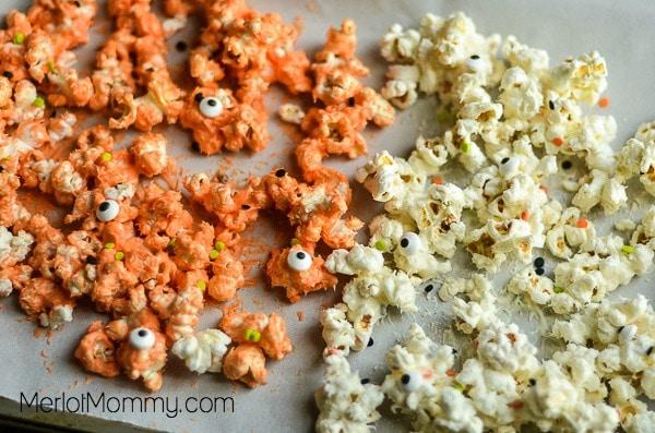 Halloween Popcorn Treats process