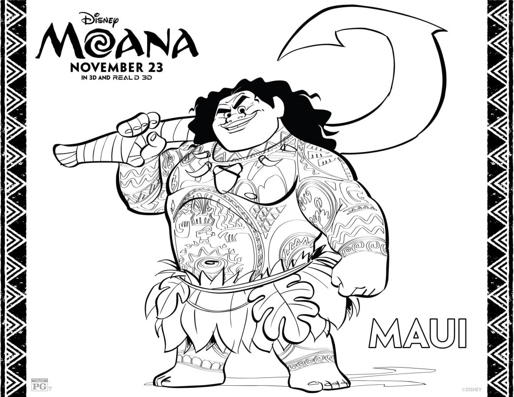 Moana Coloring Sheets Page 3 Of 9 Whisky Sunshine