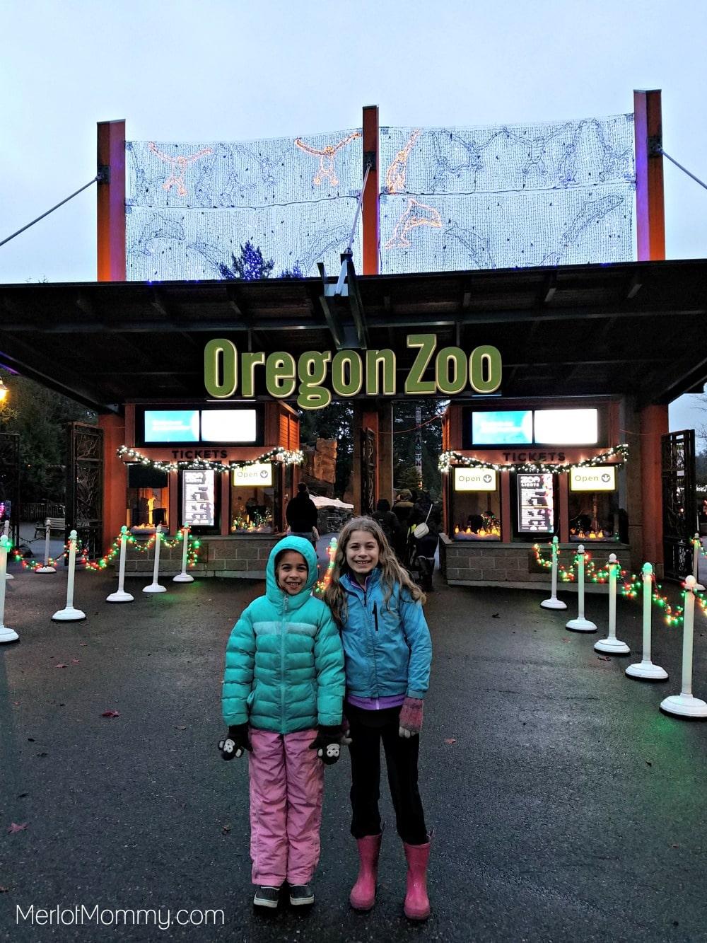 2016 Zoolights at the Oregon Zoo - zoo entrance