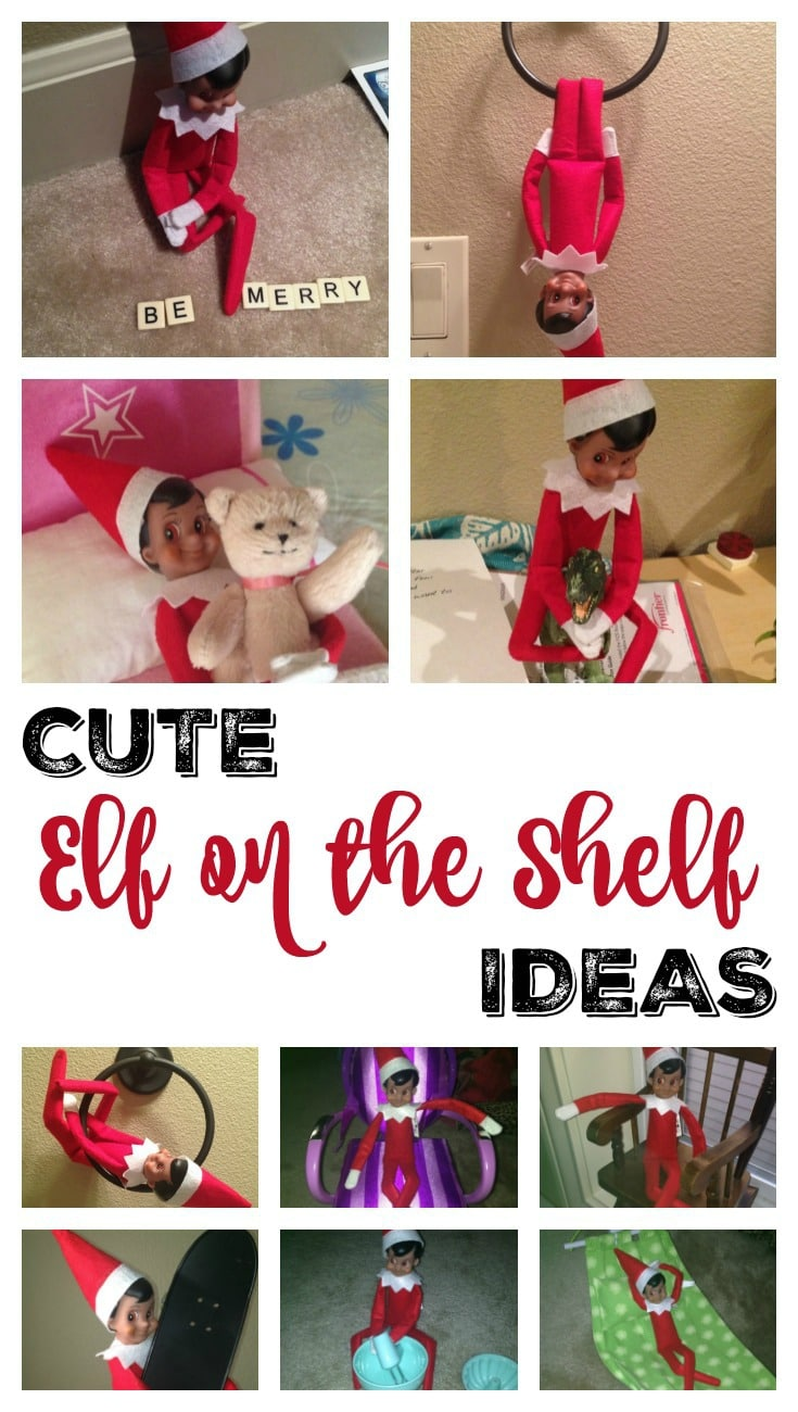 Cute Elf on the Shelf Ideas Pin