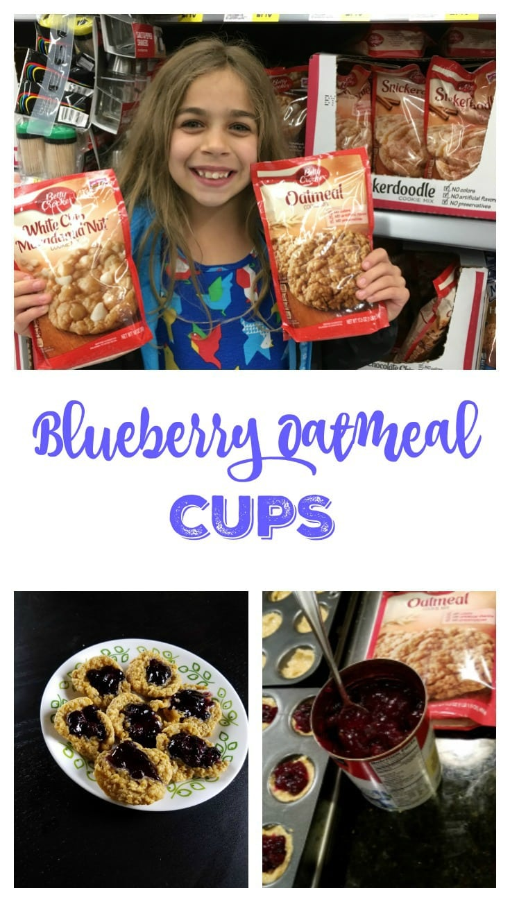 Spreading Cheer with Betty Crocker Cookies - Blueberry Oatmeal Cups