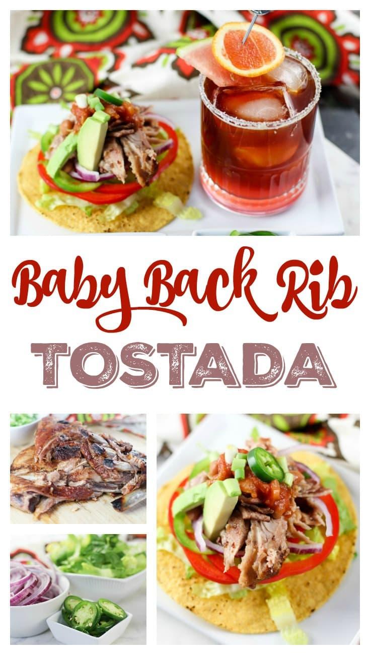 Baby Back Rib Tostada