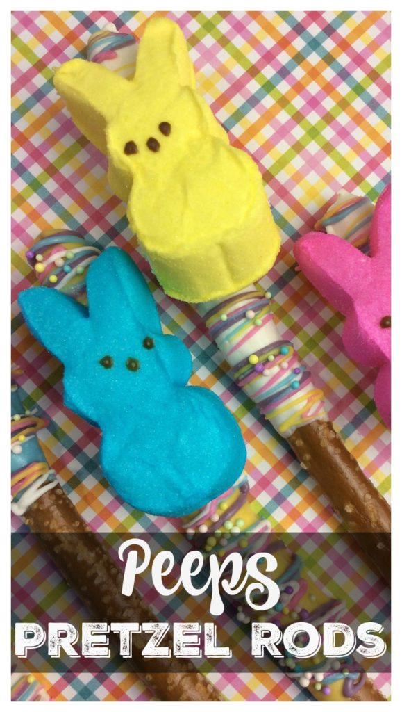 Easter Peeps Pretzel Rods