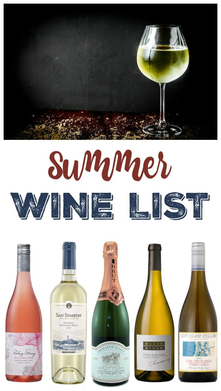Summer Wine List