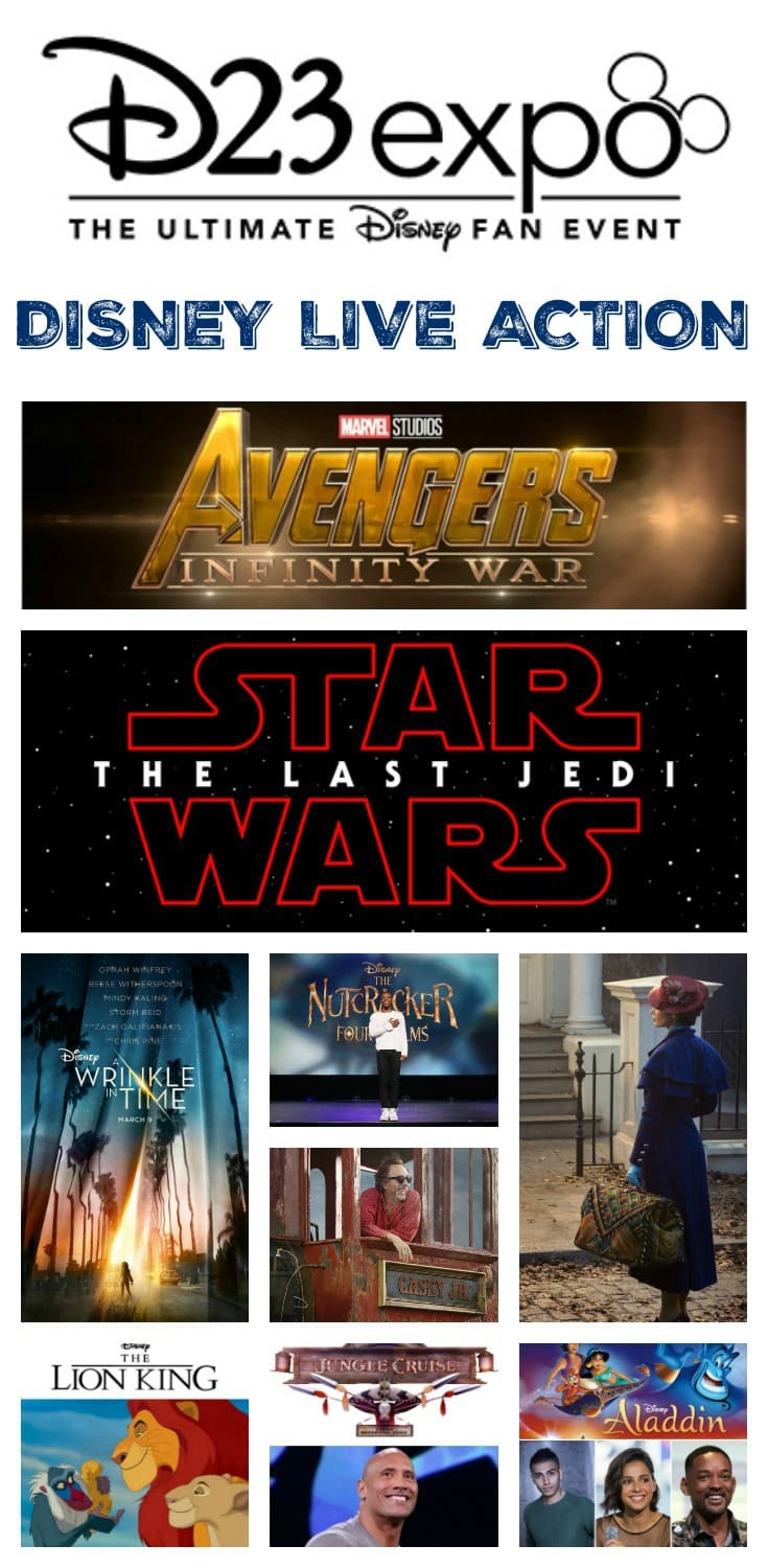 Upcoming Disney, Marvel Studios, and LucasFilm Live-Action Films - D23 Expo Recap