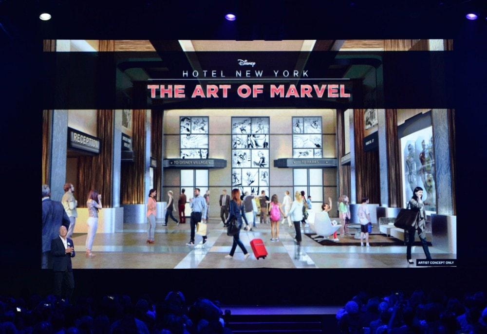 The Future of Walt Disney Parks and Resorts - D23 Expo Recap - The Art of Marvel Hotel Disneyland