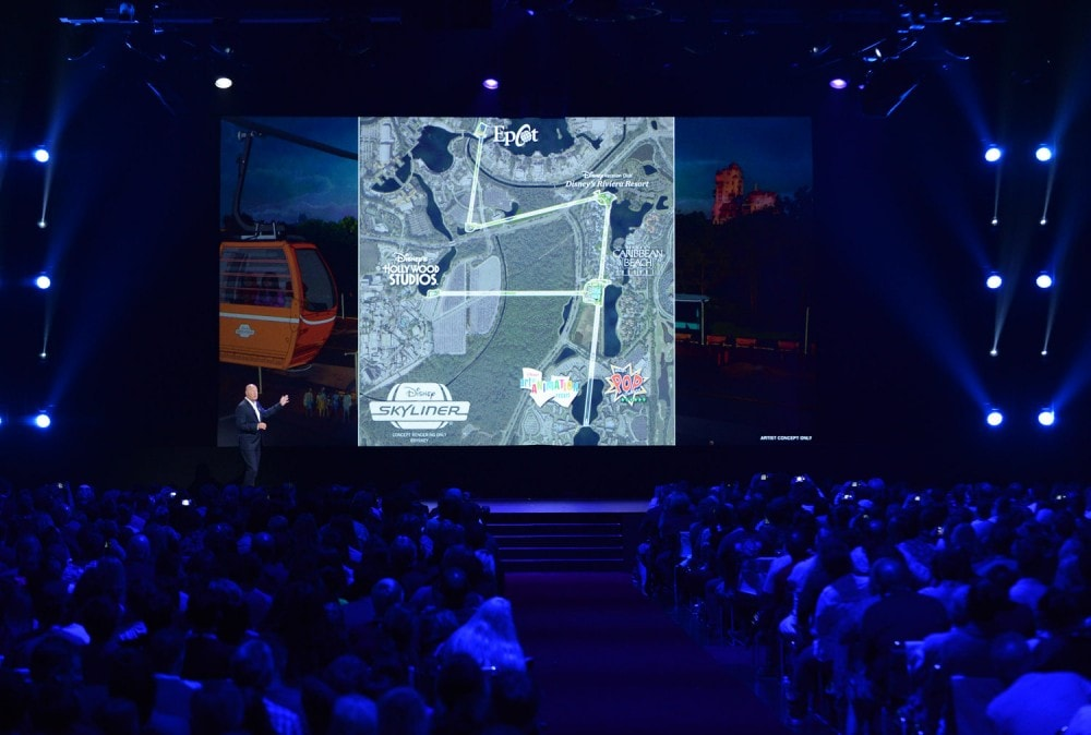 The Future of Walt Disney Parks and Resorts - D23 Expo Recap Skyliner Map