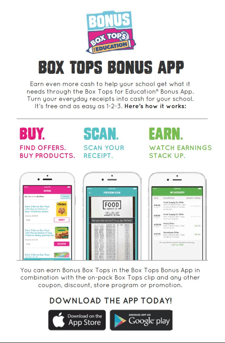 Box Tops for Education Bonus App