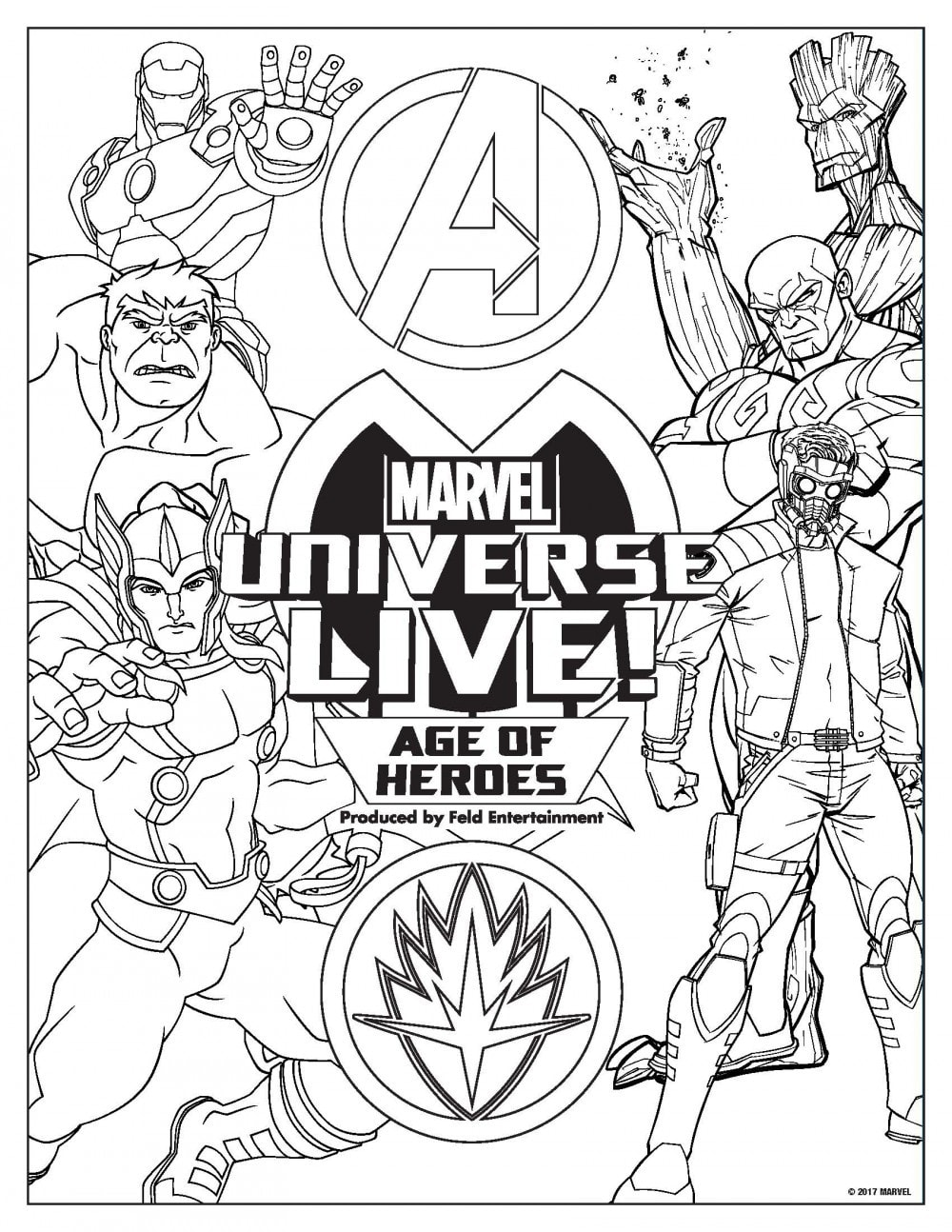 Marvel Universe Live Activity Packet