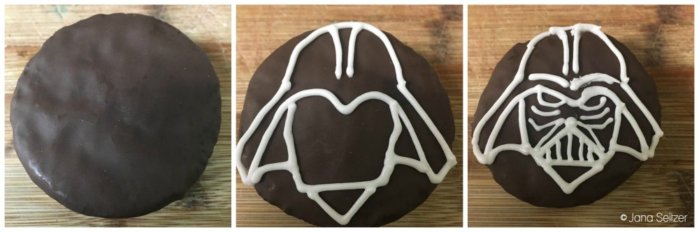 Darth Vader Ding Dong Treats process