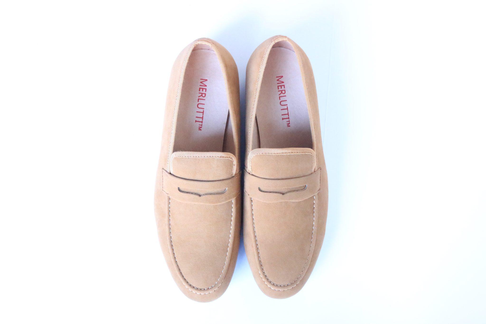 Handmade Brown Velvet Loafers for Men (Plain)